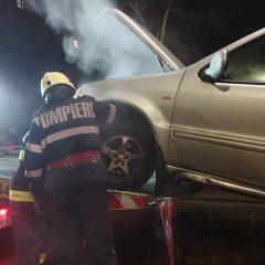 Incendiu izbucnit la un autoturism pe Drumul Careiului