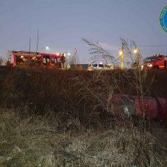 Accident cu persoane blocate în autoturism în municipiul Satu Mare