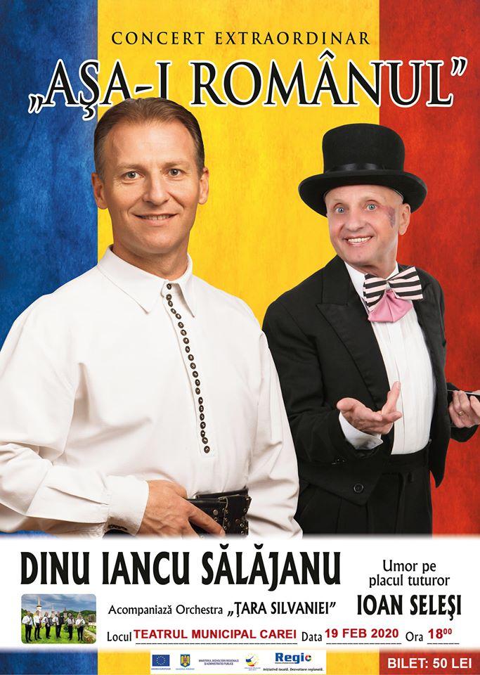 """Concert  """"Așa-i românul"""" susținut de Dinu Iancu Sălăjanu la Carei"""