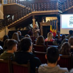 """Prezentarea multimedia """"Brâncuși– inspirație, talent, geniu"""", la 144 de ani de la nașterea sculptorului, la Castelul din Carei"""