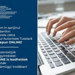 Dosarele către Biroul Autoritate Tutelară se depun ONLINE în Satu Mare
