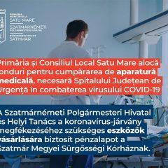 Primăria Satu Mare alocă fonduri pentru aparatură medicală necesară Spitalului Județean de Urgență