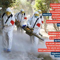 Primăria Municipiului Satu Mare continuă acțiunile de dezinfecție a domeniului public