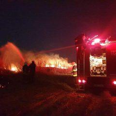 Incendiu de vegetație uscată în localitatea Botiz