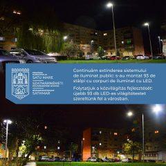 Primăria Satu Mare continuă extinderea sistemului de iluminat public în cartierele din municipiu