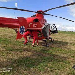 Copil accidentat, transportat cu elicopterul la Oradea