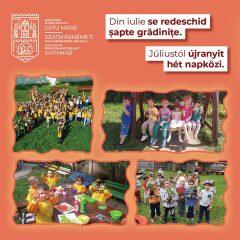 Din iulie, șapte grădinițe din municipiul Satu Mare își redeschid porțile