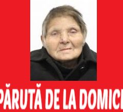 O femeie de 78 de ani, din municipiul Satu Mare, a dispărut de la domiciliu