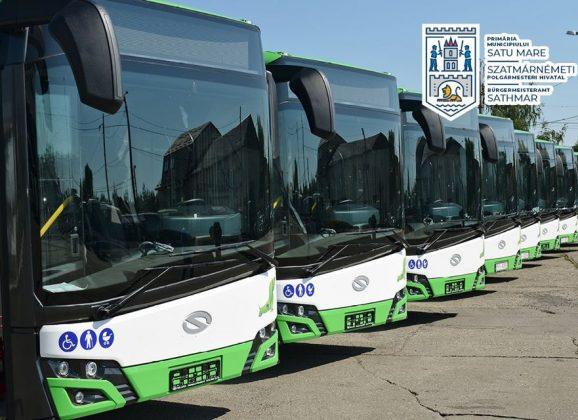 Azi au sosit din Polonia încă 7 autobuze hibrid la Satu Mare
