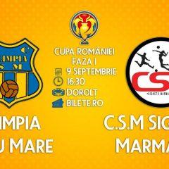 Olimpia joacă azi în Cupa României cu CSM Sighetu Marmației