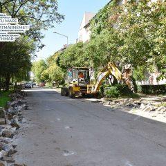 Au început lucrările de modernizare pe strada Dorna din municipiul Satu Mare