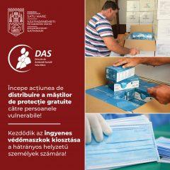 Acțiunea de distribuire a măștilor de protecție gratuite pentru persoanele vulnerabile în municipiul Satu Mare