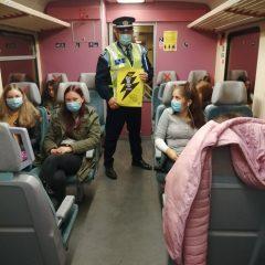 """Campania națională a Poliției – ,,Selfie-ul pe tren nu ia like-uri, ia vieți!"""" a avut loc și la Satu Mare"""