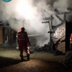 Intervenție promptă a pompierilor militari la un incendiu din Gherța Mare
