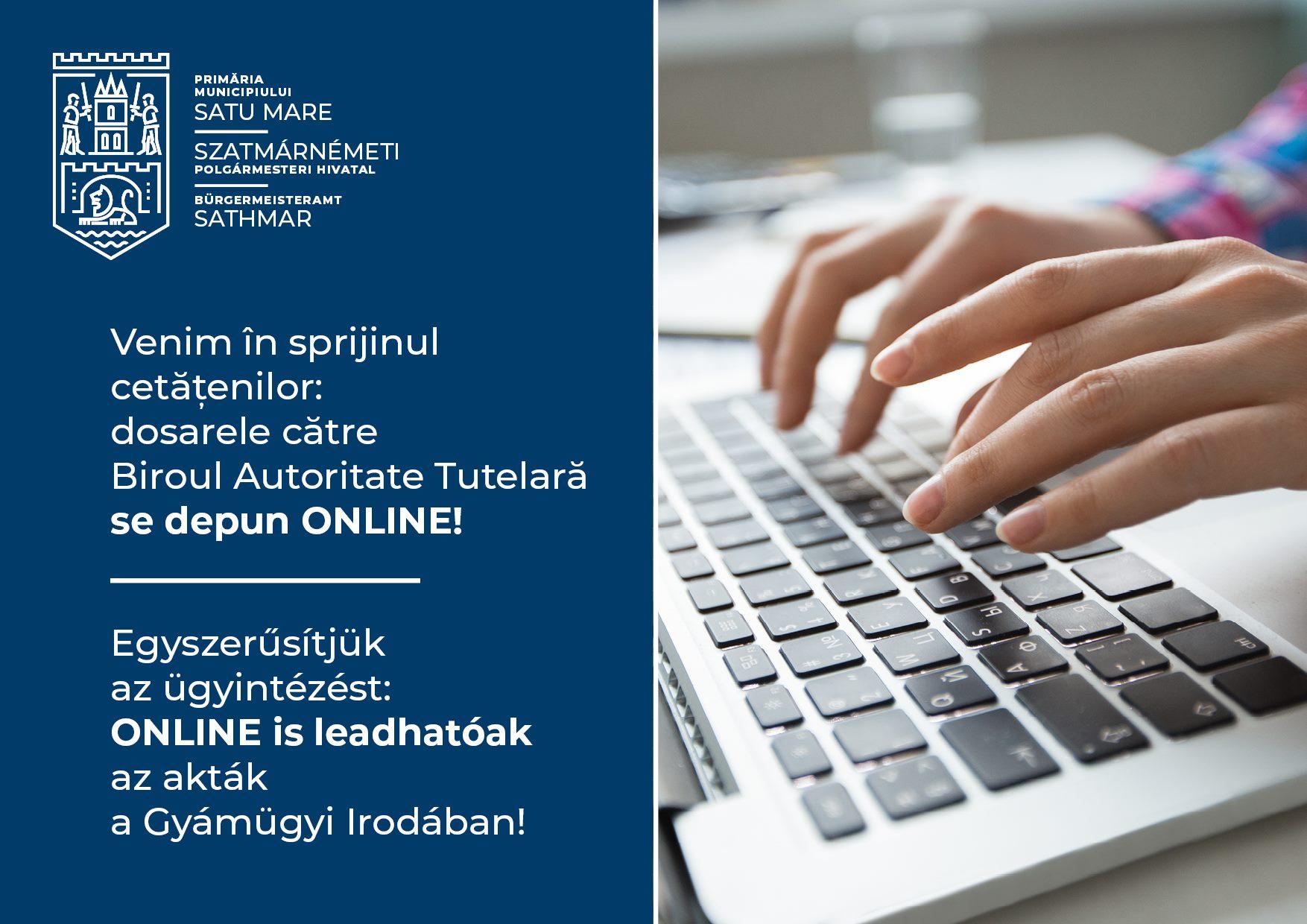 Dosarele pentru anchete sociale se depun ONLINE la Primăria Satu Mare