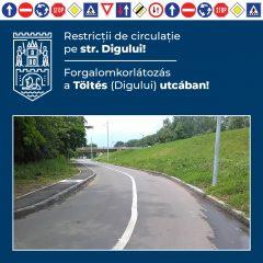 Primăria Municipiului Satu Mare anunță închiderea temporară a circulației pe str. Digului