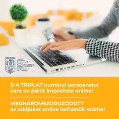 S-a triplat numărul persoanelor care au plătit impozitele online la Satu Mare