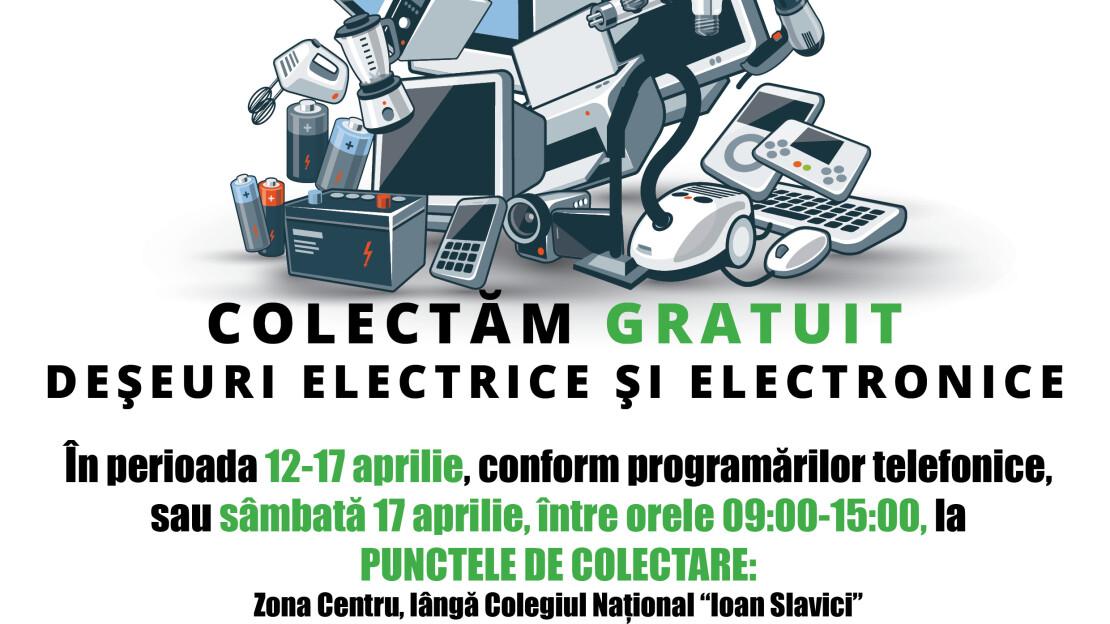 O nouă acțiune de colectare gratuită a deșeurilor electrice și electronice la Satu Mare